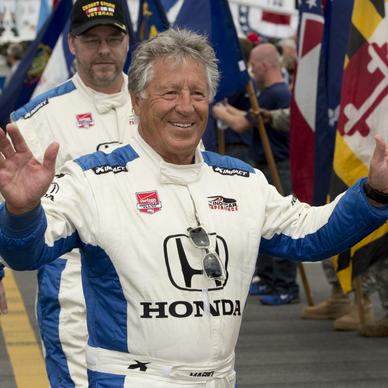 Champcar Mario Andretti Drives His Family