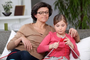 Grandmother-granddaughter-knitting