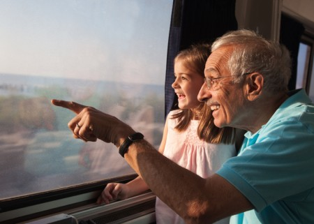 Rail vacation for grands