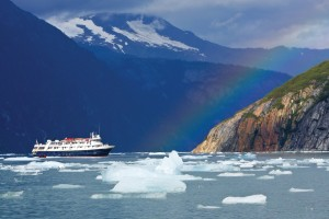 NGS Sea Bird among ice bergs, Endicott Arm, Alaska