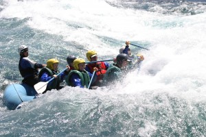 Whitewater rafting, Chile