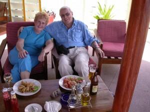 Enjoying local cuisine, Zanzibar