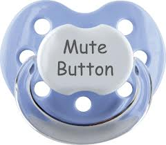 pacifier mute button