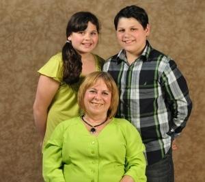 Paula Kaminski with grand twins Mariah & David