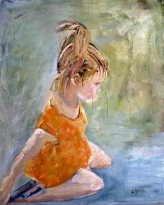 Janet Harrold's painting of granddaughter Hailey