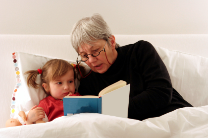 grandparenting play with books