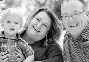 grandparent, Lori Bitter with husband, Dwain and grandson, Gabe