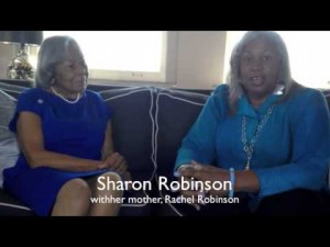 Sharon Robinson, author Under the Same Sun, with mother Rachel, widow of baseball legend Jackie Robinson