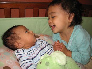 siblings learn to love each other early