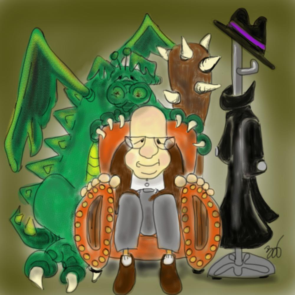 grandpa with dragon