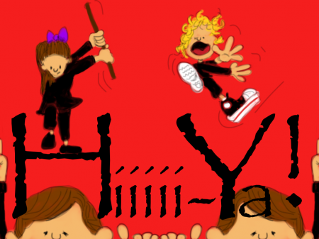 Ninjas attacking grandpa Bob