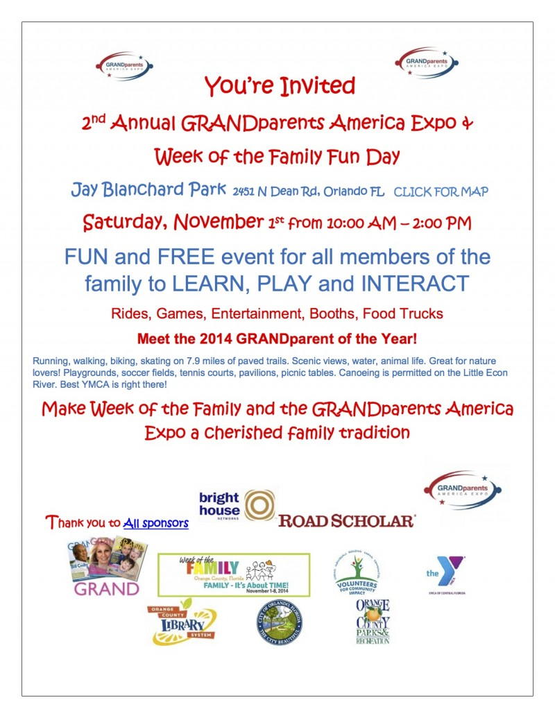 You Are Invited to the GRANDparents America Expo
