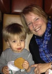 Dedra Montoya with grandson