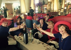 High Tea with the Red Hat ladies at the 7 Star hotel - Borj Arab