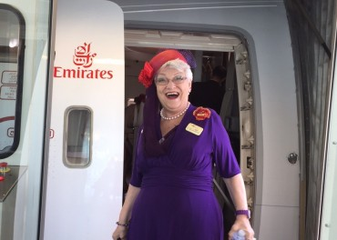 "Nana & ""Red Hatter"" Queen, Marilyn Waltz's Fantasmagorical Adventure To Dubai"