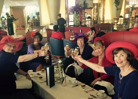 High tea at the seven star Burj Al Arab