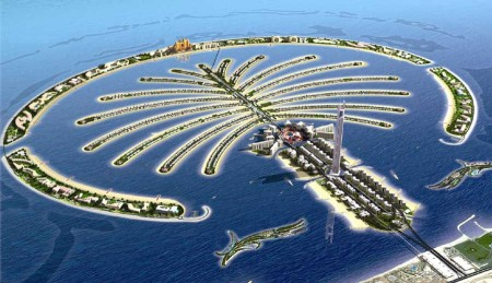 The Palm Jumeirah is an artificial archipelago in United Arab Emirates, created using land reclamation by Nakheel, a company owned by the Dubai government.