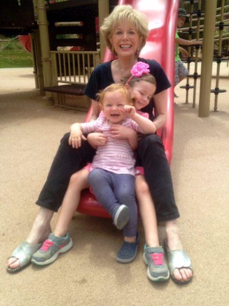 Leslie with both grandchildren