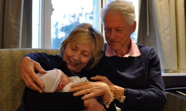 Hillary and Bill Clinton Meet Their GRANDson, Aiden