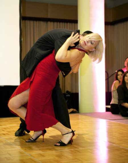 Dr. Northrup giving a Argentine Tango demonstration