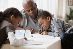 Grandpa grandkids homework