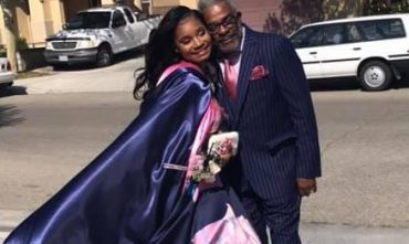 Grandfather Poses With Dateless Granddaughter For Prom Photo