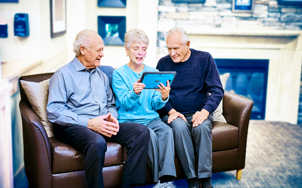 Tablets With Video Chat Helps Senior Living Residents Stay Connected